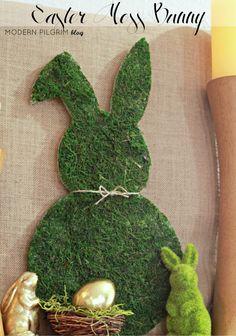 DIY Easter Moss Bunny {via @jenniferpilgrim   ModernPilgrimBlog.com}