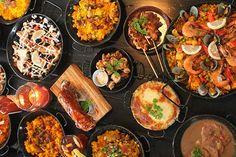 Festive treat of Spanish comfort food courtesy of Hala Paella Paella, Freedom Wall, Baby Squid, Food Treat, Roasted Garlic, Bruschetta, I Foods, Crisp, Festive