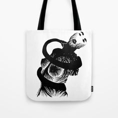 Snake Poison Illustration Tote Bag Available on Society6