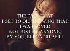 Broke my heart. #tvd  SPOILER ALERT DO NOT READ FURTHER  He comes back in season 6. BUT Elena has had Alaric compell away her memories of loving him! But they haven't kissed yet which I'm almost positive will bring them back :)