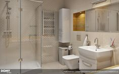 Ambrozja parterowy dom z nowoczesną elewacją i dużym tarasem - Jesteśmy AUTOREM - DOMY w Stylu Interior And Exterior, Interior, Home, Lighted Bathroom Mirror, Exterior Design, Bathroom Mirror, Corner Bathtub, Interior Design, Cottage Plan