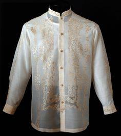Raya Barong Tagalog #4015 A handsome Raya Barong Tagalog. This raya dress shirt is a cut above the rest with its sophisticated, formal effect.  #BarongsRUs #barong