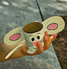 Easy Mouse Toilet Paper Roll Craft For Kids | CraftyMorning.com