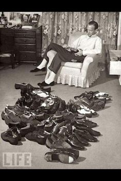 Fred Astaire and his tap shoes. My favorite tap dancer of all time.