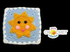 (5) Sunshine Blanket Square - Crochet Motif - June - YouTube