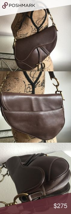 💯 authentic Dior leather saddle bag 💼 💯 Authentic Dior saddle 💼 bag. Gently worn. In beautiful condition. The best interior lining is intact.  No damages. Comes with dustbag. No box. No trades!!! Dior Bags Mini Bags