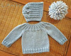Conjunto tejido con lana merino para recién nacido. L'Anita Más