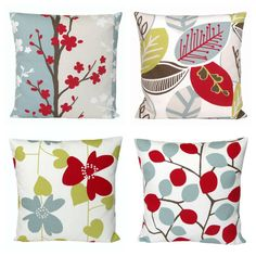 Modern Red Cushion Cover 16x16 Pillow Sham Nordic by CoupleHome