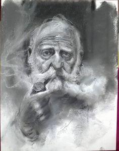 #رابرت_موندریان_عکاس ۳۵×۴۵ #مداد_پاستل #نقاش:مجید غزنوی #Robert_Mondrian_photographer 35×45cm #Pencil_pastel By:Majid Ghaznavi @majidghaznaviart @majidghaznavikhtart