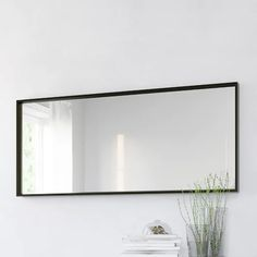 Hallway Mirror, Ikea Mirror, Black Wall Mirror, Large Black Mirror, Wall Mirror Ideas, Ikea Nightstand, Large Mirror Decor, Large Mirrors, Freestanding Mirrors