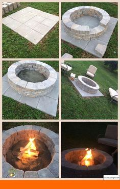 DIY Fire Pit- So Easy! (It only takes an hour!) - Do it yourself decoration-DIY Fire Pit- So einfach!) – Dekoration Selber Machen DIY Fire Pit- So Easy! (It only takes an hour! Diy Fire Pit, Fire Pit Backyard, Garden Fire Pit, How To Build A Fire Pit, Building A Fire Pit, Fire Pit On Pavers, Outdoor Fire Pits, Small Fire Pit, Fire Pit Area