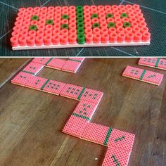 Domino game hama beads by  j_nystrup