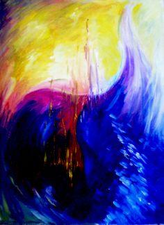 Título: Mareas de Fuego - Oleo (60x40cm) - San Luis, Argentina - Autora: Alejandra Etcheverry