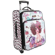 Travel with ease and style with this Nicole Lee 21-inch expandable rolling carry-on upright suitcase, expandable up to two inches. The satin-lined interior contains four convenient compartments and a laptop compartment for 17-inch laptops.