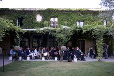 Outside Ceremony  Under the Pergola Provence Wedding