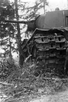 The lost Soviet tank KV-1 in the Smolensk region