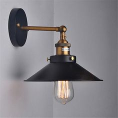 VINTAGE STYLE Adjustable Wall Lamp Swing Arm Wall Sconce Retro Loft Light 2 Size