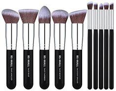 BS-MALL(TM) Makeup Brushes Premium Makeup Brush Set Synthetic Kabuki Makeup Brush Set Cosmetics Foundation Blending Blush Eyeliner Face Powder Lip Brush Makeup Brush Kit(10pcs, Silver Black) * Read review @