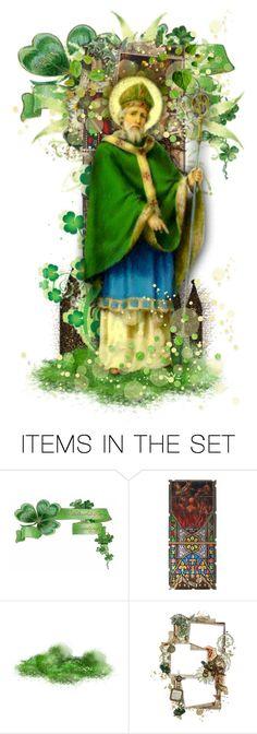 """Saint Patrick"" by girlinthebigbox ❤ liked on Polyvore featuring art, Ireland, Irish, legend, myth and stpatrick"