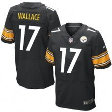 17853f4e1 NFL Mens Elite Nike Pittsburgh Steelers  17 Mike Wallace Team Color Black  Jersey  129.99 Pittsburgh