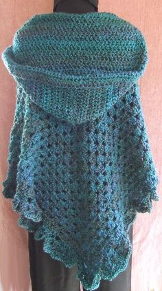 Hooded Poncho with Footed Pants - SLK Designs - Original Crochet