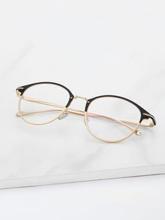 709ea8796ad Shop Two Tone Frame Glasses online. SHEIN offers Two Tone Frame Glasses    more to fit your fashionable needs.