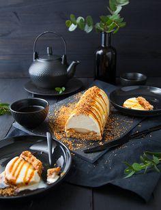 Bûche vanille-poire-noisette - 100 % Végétal