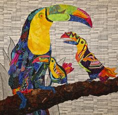 3 'Cans' by Sandra Lauterbach, Los Angeles, California, USA.  2015 Houston International Quilt Festival.  Photo by Pam Holland.