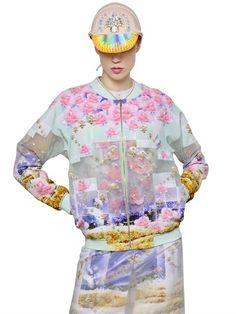 Printed & Embellished Organza Jacket   | ≼❃≽ @kimludcom