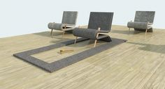 Carpet Lounge Chair |  FREDERIK ALEXANDER WERNER via made in school