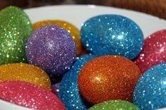 Come decorare le uova di Pasqua - Uova di Pasqua glitterate