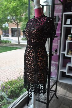 BLACK LACE SIMPLE PENCIL DRESS  OUR ONLINE STORE COMING SOON https://www.leobsession.com/