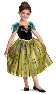 Frozen Anna Coronation Gown Classic Girls Costume