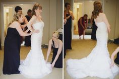 Estancia La Jolla Wedding Oscar de la Renta Dress