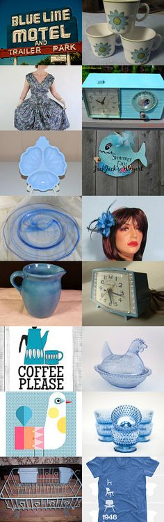 The Blues..PICKING PARADISE BLUE BLITZING  by livingavntglife on Etsy--Pinned with TreasuryPin.com