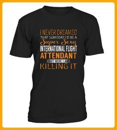 Top Shirt International Flight Attendant front 23 - Internet shirts (*Partner-Link)