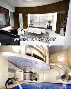 Un armario tobogán de agua