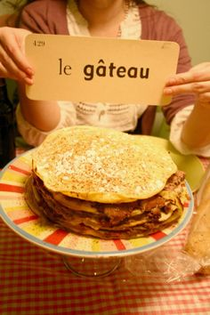 le gateau de crepe ala chocolat (or something like that) | Jerusalem Greer