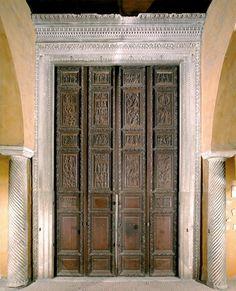 The wooden doors of the Basilica of Santa Sabina, Rome