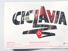 Ciclavia Poster, custom type, photo mask