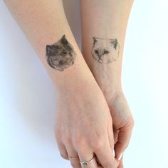 temporary tattoos - set of three fake cat tatts - 7designs to choose from - realistic tattoos - mix and match - cattoos on Etsy, $9.31