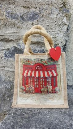 Create a bespoke Jute Bag with Decoupage is a very easy project for both adults and children Jute Bags, Easy Projects, Bespoke, Decoupage, Shabby, Tutorials, Create, Children, Furniture