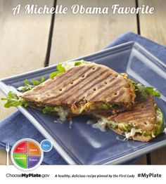 Hummus And Avocado Salad Sandwiches #myplate #letsmove #sandwiches