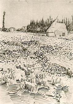 Vincent van Gogh - Landscape with Hut in the Camargue