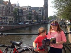 Cousins reading Arabella in Amsterdam!