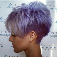 Short Grey Purple Hair Cuts for Girls Corte Y Color, Cute Hairstyles For Short Hair, Blonde Hairstyles, Simple Hairstyles, Hairstyles Men, Everyday Hairstyles, Edgy Pixie Hairstyles, Model Hairstyles, Asian Hairstyles