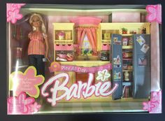 2004 Barbie Play All Day KITCHEN GIFTSET Playset with DOLL! NEW! #Mattel