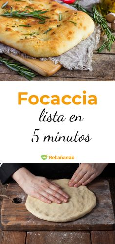 Focaccia wie in Restaurants, fertig in 5 Minuten! My Favorite Food, Favorite Recipes, Focaccia Pizza, Salty Foods, Cooking Recipes, Healthy Recipes, Pan Bread, Roasted Almonds, International Recipes