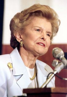 Betty Ford. Because of her, the Betty Ford Center has helped so many.