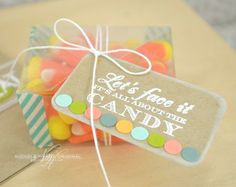 Clear Treat Box with Tag by Nichole Heady for Papertrey Ink (August 2013)